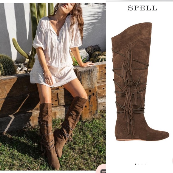 Brand New Carmen Knee High Flat Boots